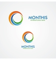 abstract month or sun logo vector image