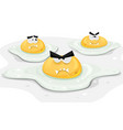 angry fried chicken eggs vector image vector image
