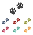 Animal Tracks icons set vector image vector image