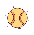 base ball icon design vector image vector image
