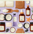bath accessories banner vector image vector image