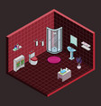 Bathroom isometric interior view