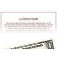 bill of one american dollar vector image