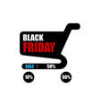black friday sale sale poster with shopping cart vector image vector image