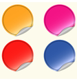 Blank round stickers vector image vector image