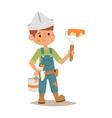 Builders kid vector image vector image