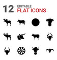 bull icons vector image vector image