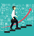 business man step up stairs vector image