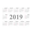 calendar template design 2019 vector image