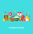 celebrate easter greeting card vector image vector image