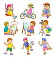 Children play vector image