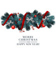 christmas 2019 greeting card with holiday 3d vector image