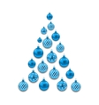 Christmas Abstract Tree made in Blue Glass Balls vector image vector image