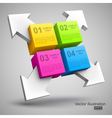 Colorful cubes with arrows 3d vector | Price: 1 Credit (USD $1)
