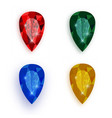 colorful gemstones collection - eps10 vector image vector image