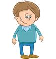 cute boy character cartoon vector image vector image