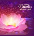 diwali festival light background vector image