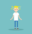 dizziness conceptual young blond character with vector image vector image