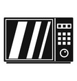 electrical microwave oven icon simple style vector image vector image
