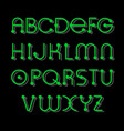 electronic green alphabet vector image vector image