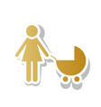 family sign golden gradient vector image