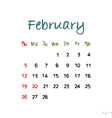 february 2017 vector image vector image