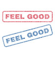 feel good textile stamps vector image vector image