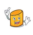 finger rigatoni mascot cartoon style vector image vector image