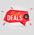 flash deals sale banner in red color vector image