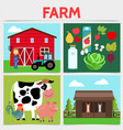 flat colorful farming square concept vector image vector image