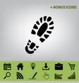 footprint boot sign black icon at gray vector image vector image
