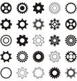 Gear wheel icons vector image vector image