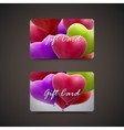 Gift cards with balloon hearts vector image