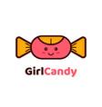 girl candy logo design creative concept vector image vector image