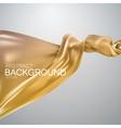 Golden silk fabric vector image