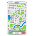 gps navigator in mobile phone vector image