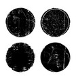 grunge textured round seal stamps vector image