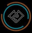handshake symbol contract icon vector image