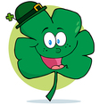 Happy Green Shamrock Wearing A Green Hat vector image vector image