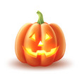 happy halloween pumpkin jack lanterns gourd vector image