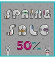 Inscription Spring Sale vector image vector image