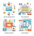 Internet Banking Concepts vector image vector image