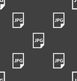 Jpg file icon sign Seamless pattern on a gray vector image vector image