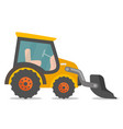 loader excavator cartoon vector image