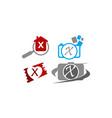 logotype x modern template set vector image vector image