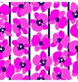 Magenta orchids seamless vector image vector image