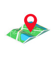 map with geo tag isometric vector image