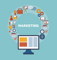 marketing business strategy vector image