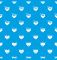 monitor socket pattern seamless blue vector image vector image