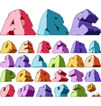 Multicolored alphabet vector image vector image